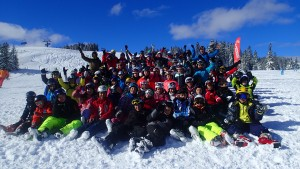 Group photo on the slopes
